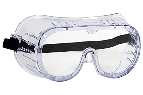 Cofan Occhiali di sicurezza con ventilazione diretta, trasparenti, anti-appannamento, protezione dagli urti.