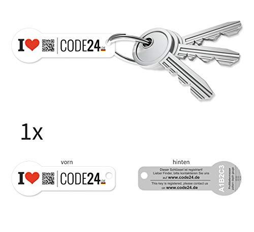 Einkaufswagenchip 10 Stück Edelstahl von Code24 mit 365 Tagen Schlüsselfund-Service
