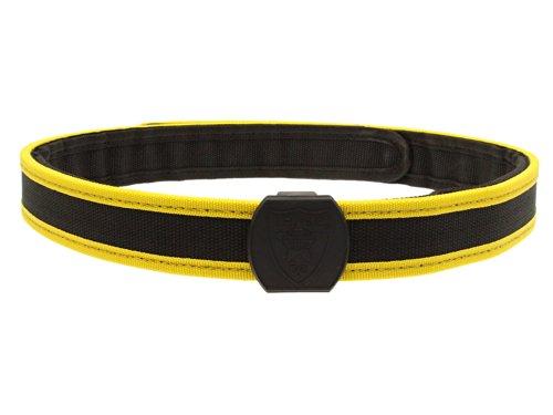 BEGADI Versteifter, Zweiteiliger IPSC Gürtel aus Nylon - gelb/schwarz L