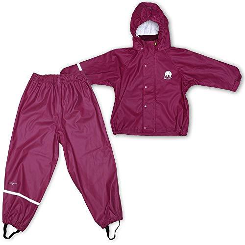 CeLaVi Mädchen CeLaVi zweiteiliger Regenanzug in vielen Farben Regenjacke,,per pack Violett (Purple 631),(Herstellergröße:100)