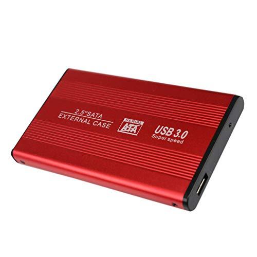 Solustre Disco Duro Externo Móvil Ssd Disco Duro Usb3. 0 Unidades de Estado Sólido de Alta Velocidad para Computadoras de Escritorio Portátiles Y Más (Rojo-2Tb)