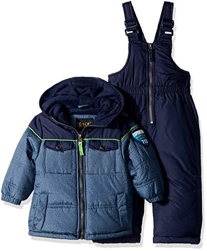 iXtreme Baby Boys Active Colorblock Snowsuit, Navy/Blue, 12M