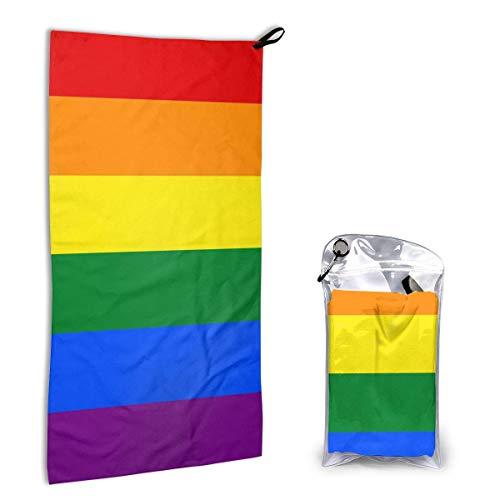 Toallas de Playa de Secado rápido,Bandera del Orgullo Gay Arcoíris Cómodas Toallas Suaves súper absorbentes,Toallas de Playa sin Arena Toalla de baño portátil Toalla de Playa de Viaje