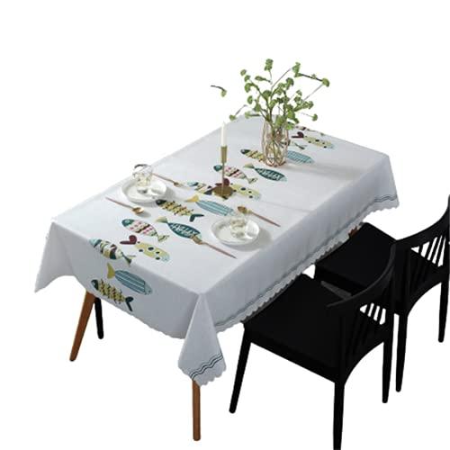 Mantel Antiincrustante Rectangular De PVC-Patrón De Triángulo Geométrico Impresión De Cocina Mantel Impermeable Y A Prueba De Aceite-Fácil De Limpiar-Mesa De Centro Cuadrada 135x220cm