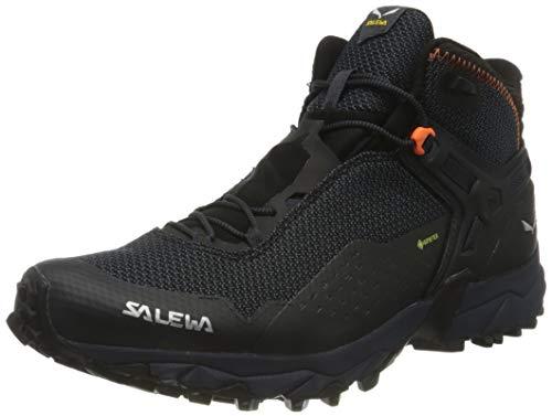 Salewa MS Ultra Flex 2 Mid Gore-TEX Scarpe da Trail Running, Black Out/Red Orange, 43 EU