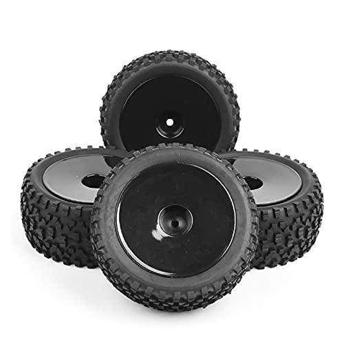 UJETML (H) Neumáticos RC Crawler 4pcs / Set 1/10 Buggy neumáticos Delantero y Trasero Rueda llanta Rim 25026 + 27011 FIT HPI RC Off-Road Toys Toys Parts Accesorios Neumáticos RC Slash 4x4 Neumáticos