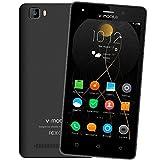 4G Telephone Portable Pas Cher 2018,8Pcs V A10 8Go ROM 5MP Appareil Photo Android 7,0 2800mAh Batterie Ecran 5,0 Pouces Double SIM Smartphone Debloqué(Noir)