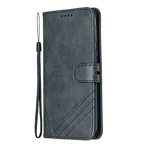 Hülle für [Moto G6 Plus] Hülle Handyhülle [Standfunktion] [Kartenfach] [Magnetverschluss] Tasche Etui Schutzhülle lederhülle klapphülle für Motorola Moto G6Plus - JEHX010543 Schwarz