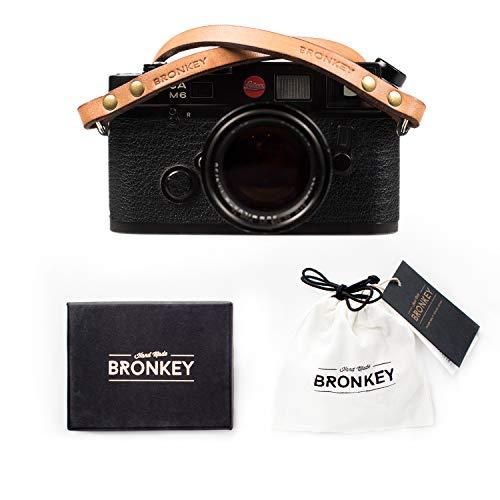 Bronkey Berlin 103 (95cm) - Correa Camara Cuello Vintage Retro cámara Compacta Piel Cuero Original Reflex DSLR SLR