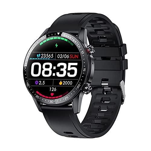 ZGZYL Smart Watch Men's Fitness Tracker Streeter Watch, Bluetooth Call MP3 Bluetooth Smart Watch con Monitoreo del Sueño/Monitor De Ritmo Cardíaco, Adecuado para iOS Android,D