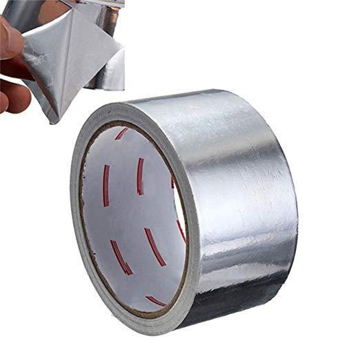 Cinta Papel De Aluminio Cinta Adhesiva De Sellado Resistencia Térmica Reparación De Conductos Herramientas De Reparación De Cinta Adhesiva De Papel Resistente A Altas Temperaturas multipropósito