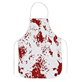 Halloween Bloody Apron Scary Blood Splattered Printed Aprons Murder Butcher Unisex Novelty Bib for Horror BBQ Cooking Baking Gardening Party Decoration Prank Props Cosplay Costume Kitchen Gift 1 Pack