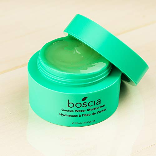 boscia Cactus Water Moisturizer - Vegan, Cruelty-Free, Natural Clean Skincare. Cactus and Aloe Vera Gel Hydrating Daily Face Moisturizer, 1.61 fl Oz