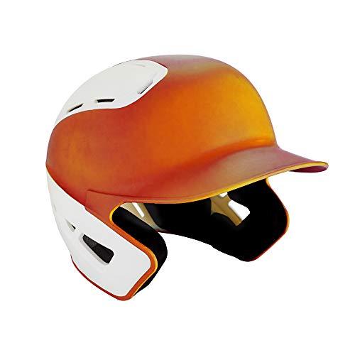 Mizuno B6 Baseballhelm für Erwachsene, Baseball-Helm., 380385.2000.11.SMD, orange/weiß, S/M