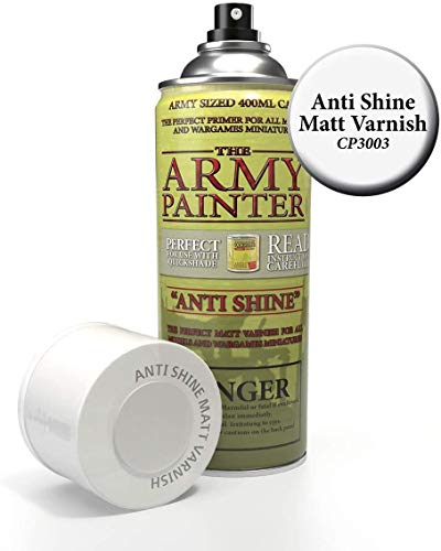 The Army Painter – Colour Primer - Anti Shine Matt Varnish | 400ml | Acryl-Spray | Grundierung | für Modellmalerei