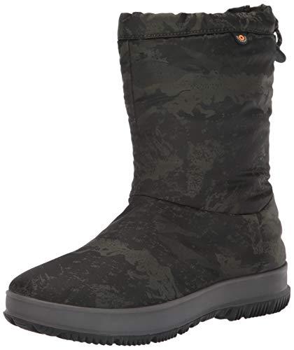 BOGS Women's Snowday Mid Waterproof Insulated Winter Snow Boot, Dark Green, 7 M US