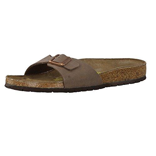 Birkenstock Schuhe Madrid Birko-Flor Nubuk Schmal Mocca (040093) 45 Braun