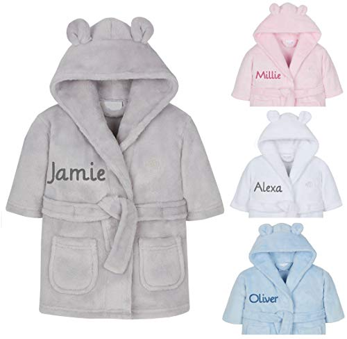 Personalised Embroidered Baby Bath Robe
