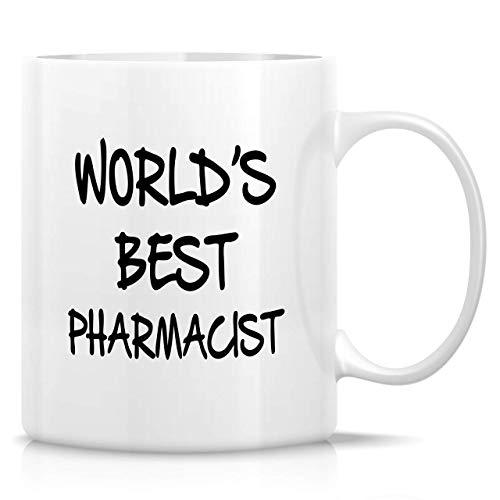 330ml Tazas de té Tazas para espresso Mejor farmacéutico mundo Taza bebida café Regalo Vajilla de Agua/Leche para Hogar,Oficina