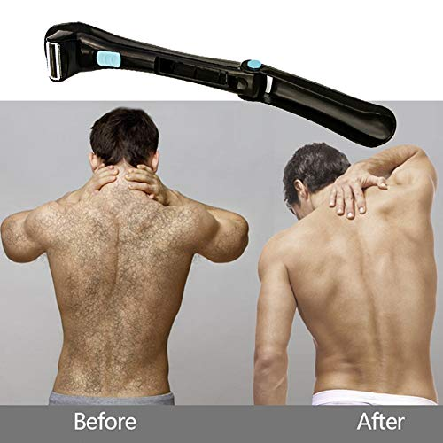 YJPQ Adjustable Back Hair Shaver Body Shaver for Men Back Hair Body Groomer Trimmer Removal Cordless & Folding & Battery-Operated