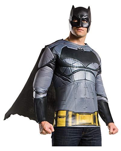 Horror-Shop Batman v Superman Batman Muskel Shirt mit Maske & Umhang Standard