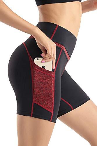 Wirezoll Short Legging Femme avec poche,Short Fitness...