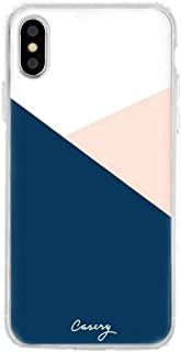 The Casery Womens Colour Block iPhone X/XS Case - White/Pink/Blue