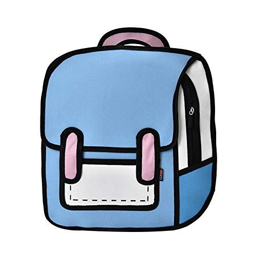 Wanderrucksäcke Mode Frauen Zeichnung Rucksack Springen Stil Cartoon Schultasche Für Mädchen Im Teenageralter Jungen Bagpack