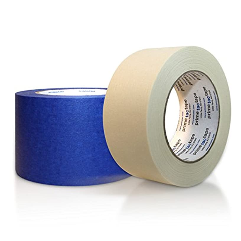 Primetac 801 1/2x60 NT Natural General Purpose Grade Masking Adhesive Tape, 5.1 mil Thickness, 55 m Length, 12 mm Width (Pack of 72)