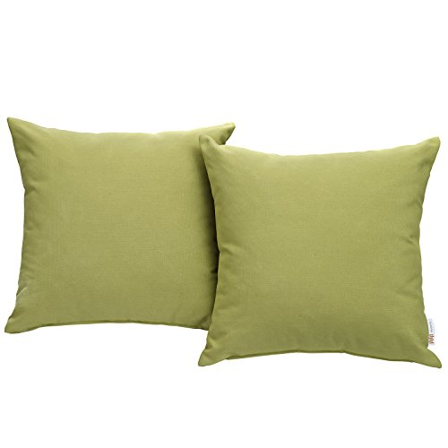 Modway Convene Outdoor Patio All-Weather Pillow in Peridot - Set of 2