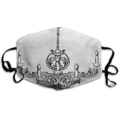 FANCYDAY mondmasker, multifunctioneel maskermeubel Rich Baroque Classic kroonluchter accessoire sketch vintage