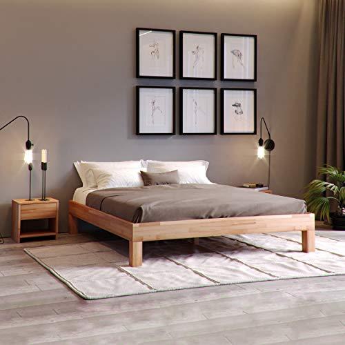 Krok Wood Massivholzbett Jana in Buche (160 x 200 cm)