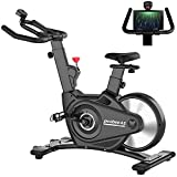 pooboo Exercise Bike Indoor Cycling Bike, Magnetic Upright Stationaty Bike with Monitor, Belt Driven Indoor Bike for Home Use