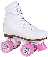 Chicago Girls Rink Roller Skate - White Youth Quad Skates - Size J11, Classic Roller Skates, Size Youth J11, White Rink Quad Skates