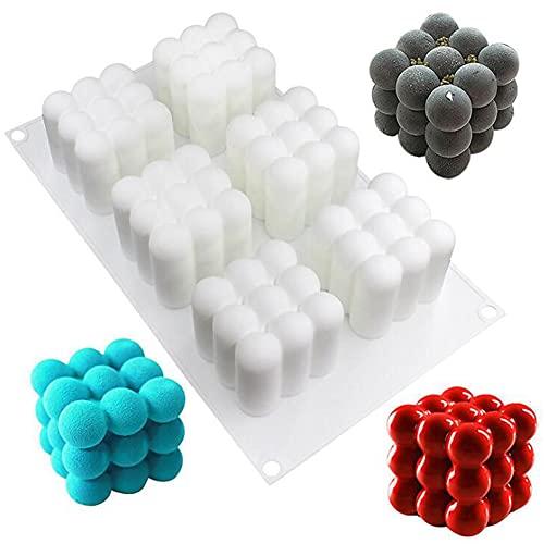 Ambolio Kerzen Silikonform,3D Cube Silikonform,3D Kerzenform Silikonform,für Handwerk Ornamente Fondant Duftkerzen, Sojawachs Gipsform.