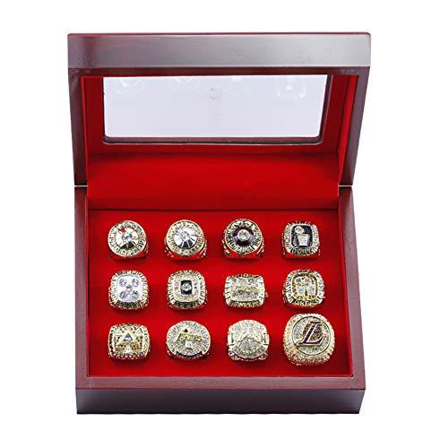 TYTY NBA Los Angeles Lakers 12 Anillos de Campeonato, éxito de taquilla en la colección, fanáticos,with Box,11#