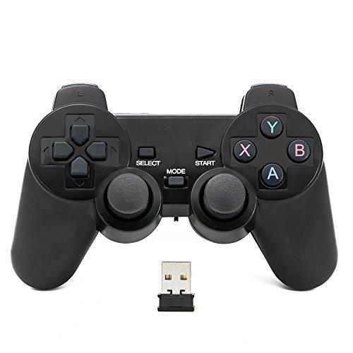 QUMOX Mando de juego Controlador inalámbrico 2.4GHz Gamepad Joystick Gamepad para PC