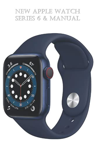 New Apple Watch Series 6 & Manual: (GPS + Cellular, 40mm) - Blue Aluminum Case with Deep Navy Sport Band