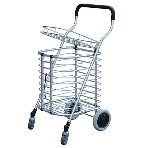 ZHANGYY Shopping Cart for Groceries Lightweight Folding Laundry Utility Cart Dishes