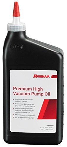 Robinair 13203 Premium High Vacuum Pump Oil - 1 Quart Bottle, 12 Pack