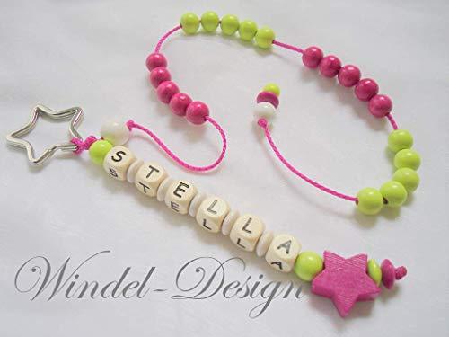 Rechenkette mit Namen - Stern- Mädchen - Lernhilfe Zählkette Rechenwurm Schule Einschulung