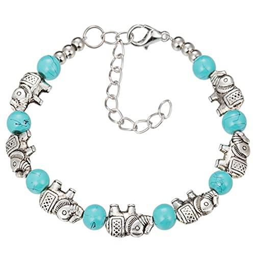 KFXD Vintage Ethnic Style Bracelet, Carved Bracelet, Bohemian Style Jewelry Bracelet, Ladies Gift Goma de mascar para bebés