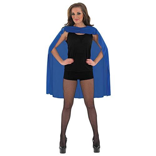 fun shack Adults Blue Superhero Cape Mens & Womens Comic Book Hero Costume Accessory