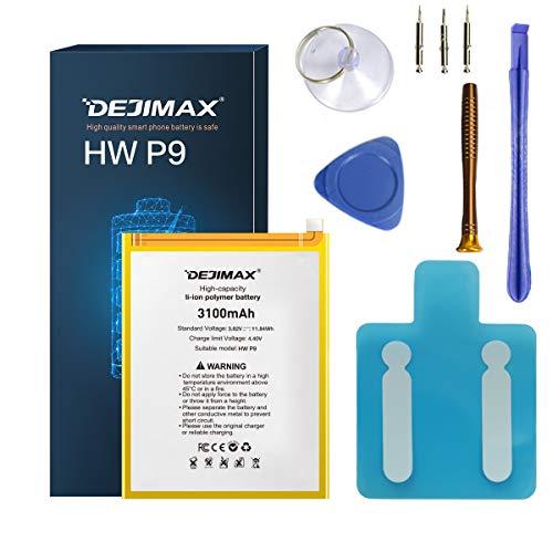 DEJIMAX 3100mAh P9 Batería Reemplazo de para Huawei P9 / Honor 8 / P9 Lite/ P10 Lite/P20 Lite, 3100mAh Batería de Repuesto de Iones de Litio de Alta Capacidad con Herramienta y Kit de Reparación