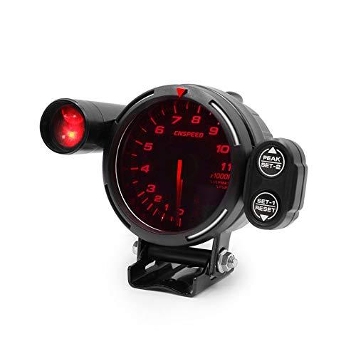 PINGYAYANG Motor de tacómetro automático 0-11000 RPM Motor Paso a Paso de Alta Velocidad con luz de Cambio y Advertencia máxima