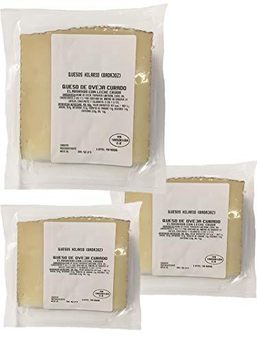 Cuarto de queso de oveja curado 3 porciones de cuñas de queso curado de oveja envasadas al vacio