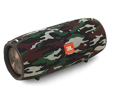JBL Xtreme Spritzwasserfester Tragbarer Bluetooth Lautsprecher mit 10,000 mAh Akku, Dualem USB-Ladeanschluss und Freisprechfunktion - Camo