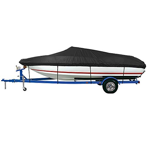 iCOVER Trailerable Boat Cover- Waterproof Heavy Duty Marine Grade Polyester, Fits...