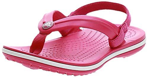 Crocs Unisex-Kinder Crocband Strap Flip Zehentrenner, Pink (Candy Pink 6x0), 27/28 EU