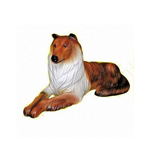 XL Premium Collie in lebensgross 90cm Hund Garten Deko Figur inkl. Spedition